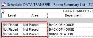 "Resolving ""Not Placed"" Rooms | Aperte Design"